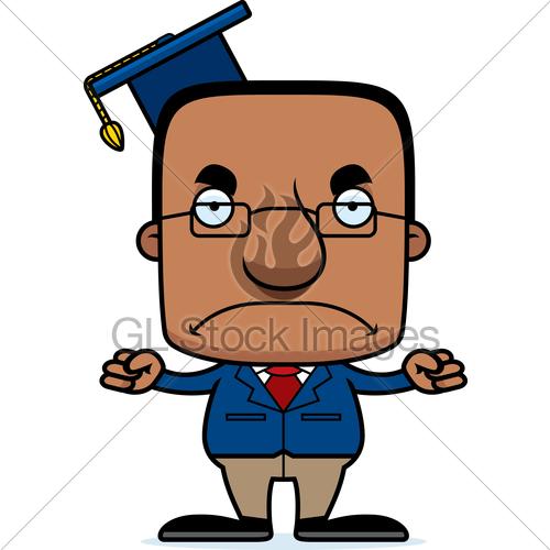 500x500 Cartoon Angry Teacher Man Gl Stock Images