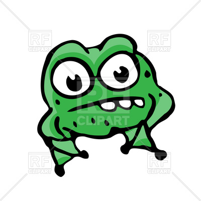 400x400 Cartoon Angry Frog Royalty Free Vector Clip Art Image