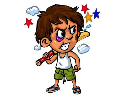500x406 Angry Cricketer By Chandanitis Sports Cartoon Toonpool