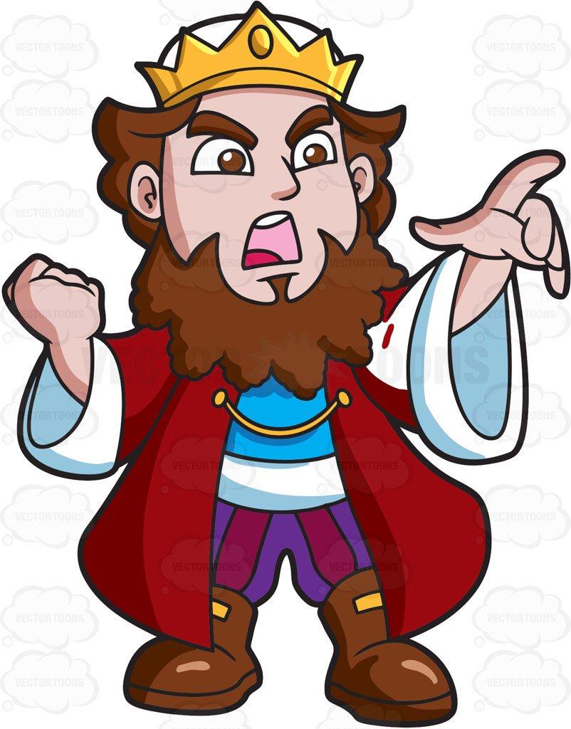 802x1024 An Angry King Cartoon Clipart