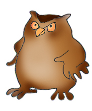 185x224 Angry Owl Clipart