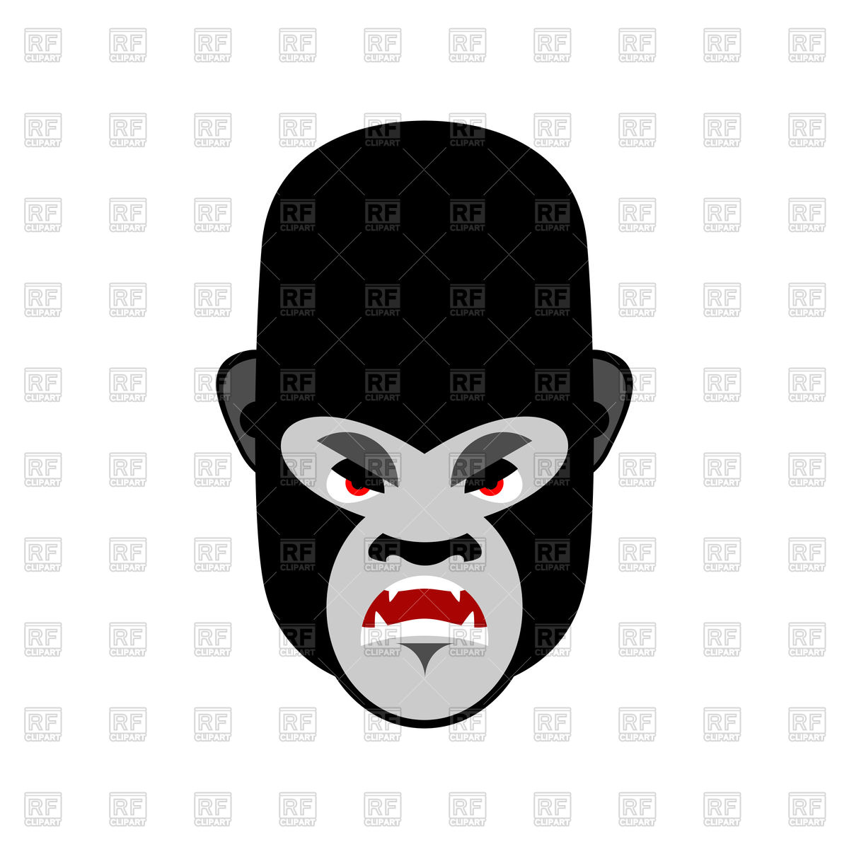 1200x1200 Angry gorilla head