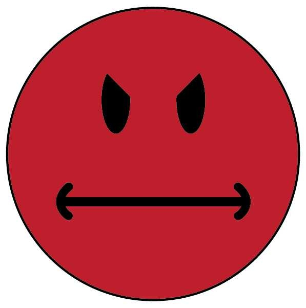 597x600 angry face clipart