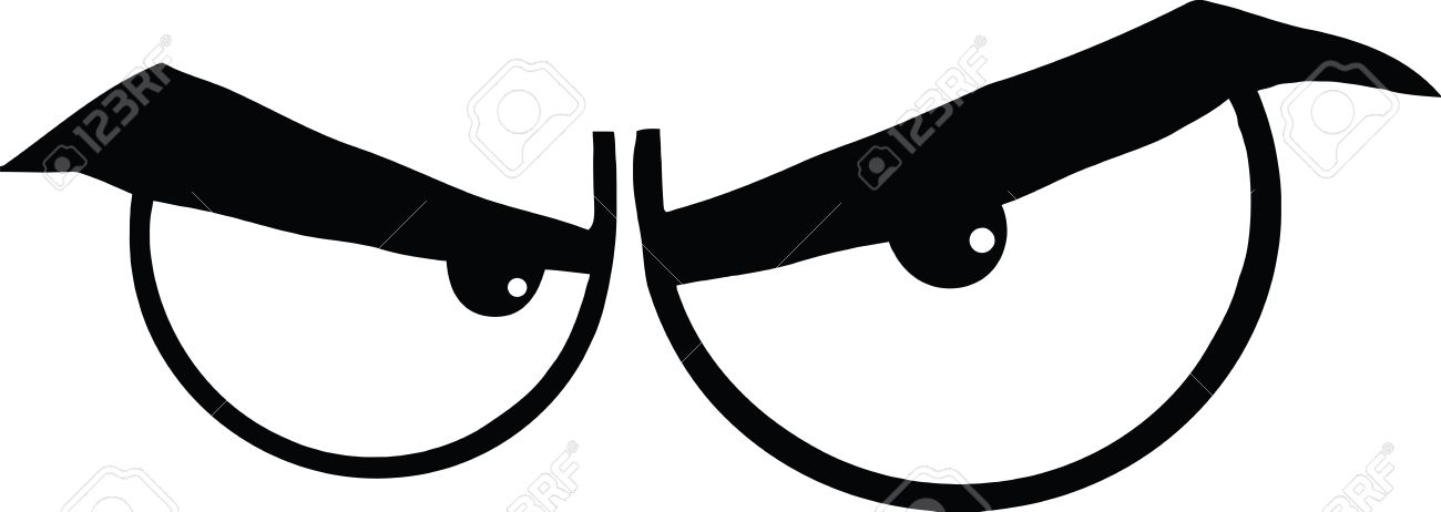 1300x462 Black And White Angry Cartoon Eyes Illustration Isolated