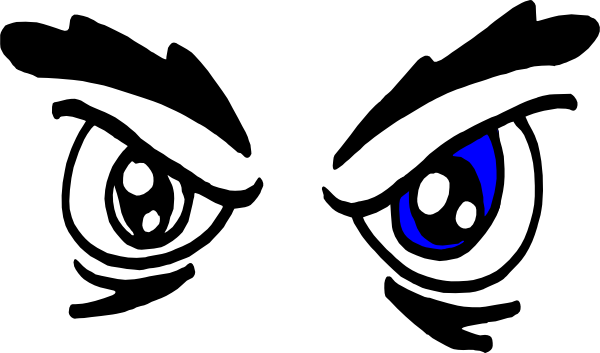600x353 Blue Eyes Clipart Angry Eyebrow