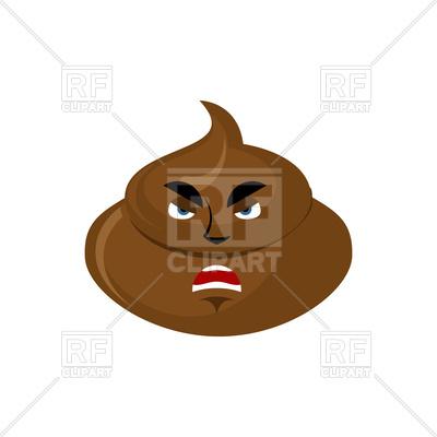 400x400 Shit Angry Emoji Royalty Free Vector Clip Art Image