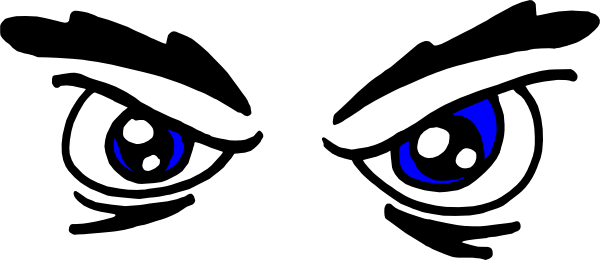 600x260 Angry Eyes Clip Art