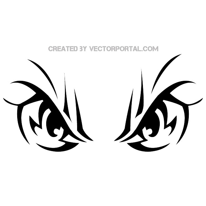 660x660 Angry Eyes Vector Image