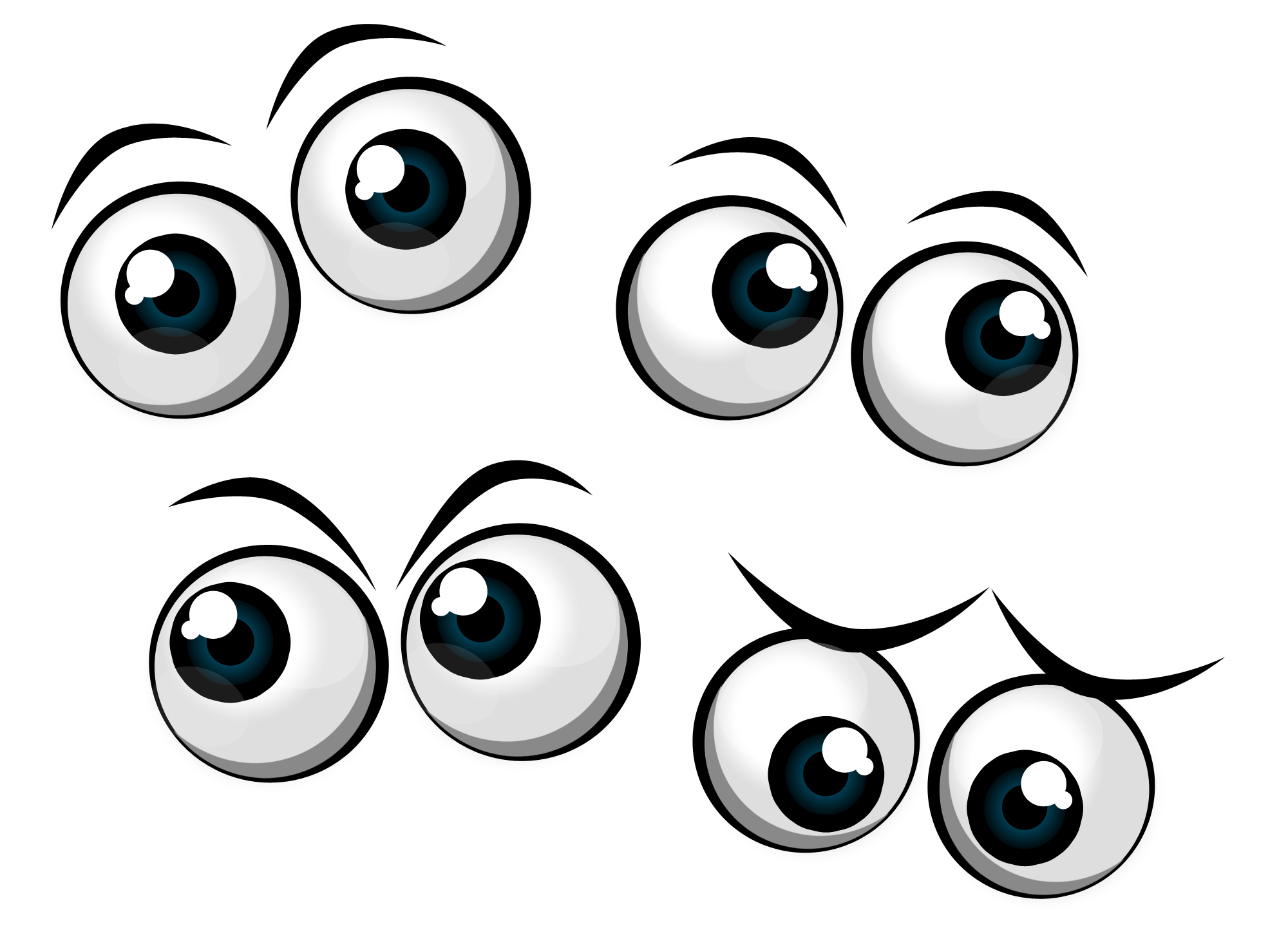 2000x1469 Cartoon Eyes Clipart