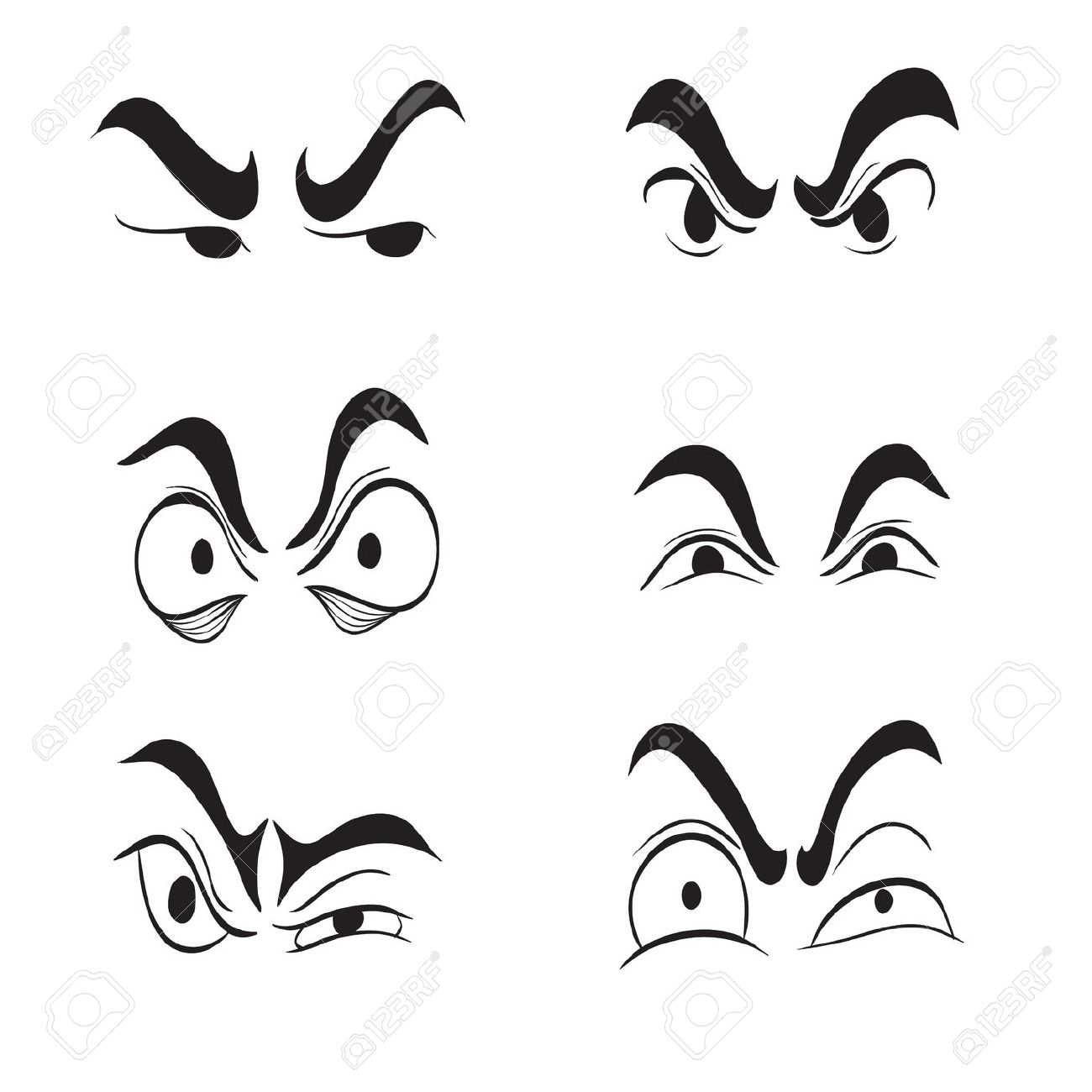 1300x1300 Eye Clipart Angry