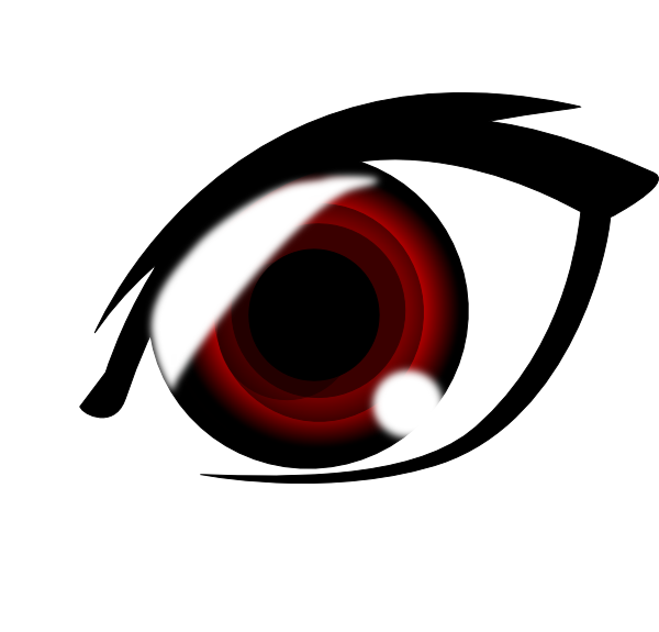 600x575 Vampire Anime Eye Clip Art