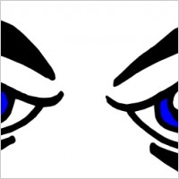 200x200 Mean Eyes Clipart
