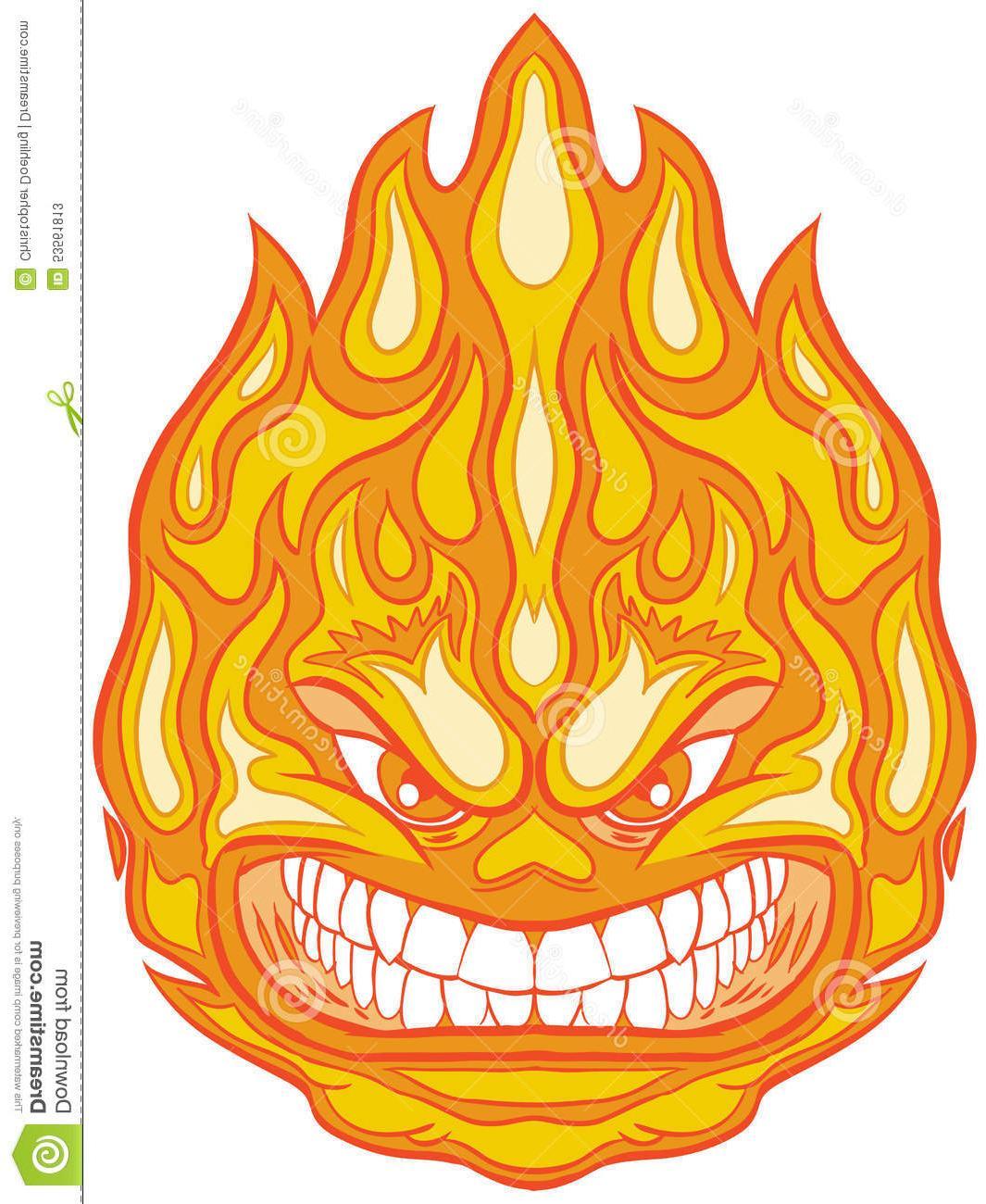1065x1300 Hd Angry Face Fireball Vector Clip Art Cartoon Illustration Mascot