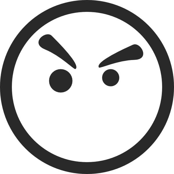 600x600 Angry Face Symbol Clip Art