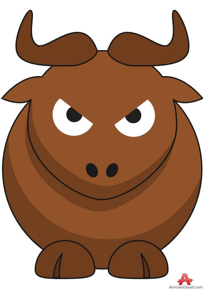 706x999 Cartoon Gnu With Angry Face Free Clipart Design Download