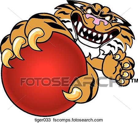 450x403 Drawing Of Tiger Holding Dodgeball With Angry Face Tiger033