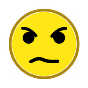 300x300 Angry Face Clipart
