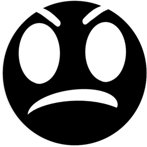 300x300 Angry Face Draft Clip Art