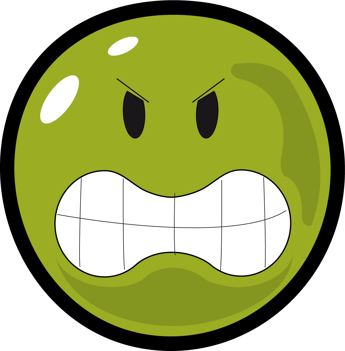 1184x1202 Angry Face Smiley Clipart