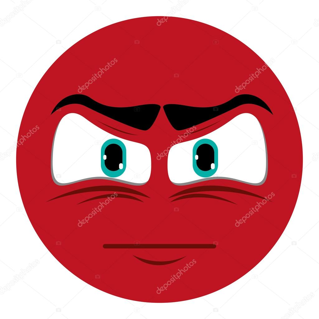1024x1024 Angry Face Emoticon Icon Stock Vector Jemastock