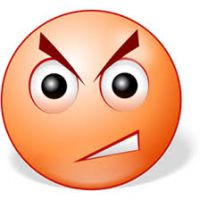 200x200 Angry Face Clipart