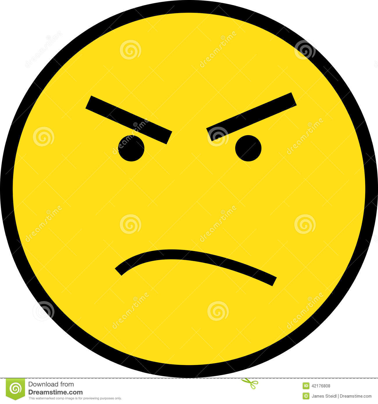 1300x1390 Angry Face Clipart