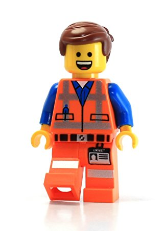 321x450 Lego Movie Masterbuilder Emmet Minifigure (Open Mouth