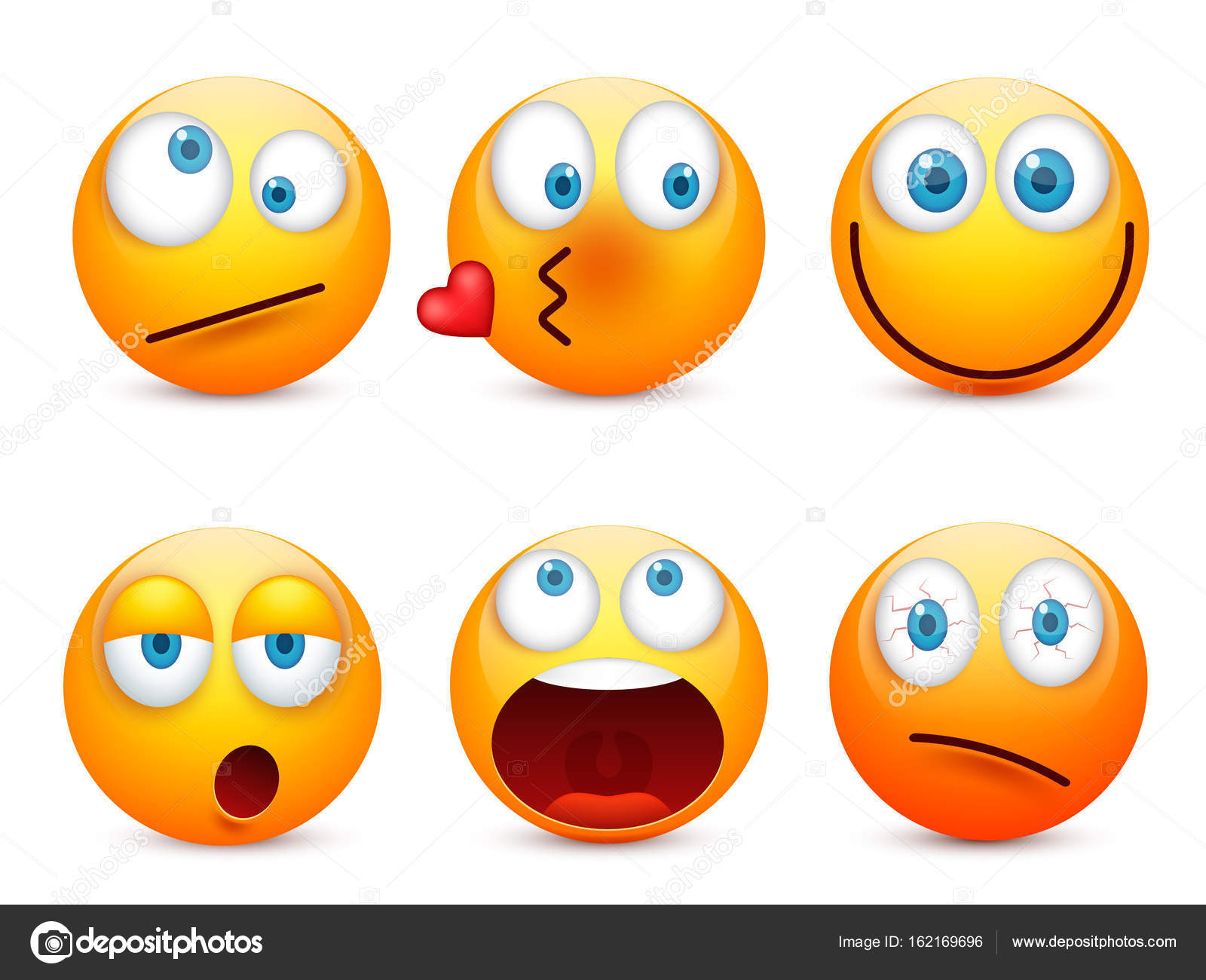 1600x1300 Smiley With Blue Eyes,emoticon Set. Yellow Face With Emotions