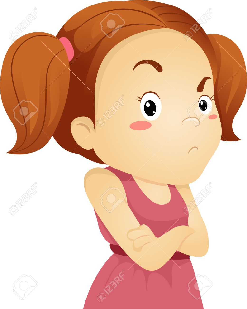 1040x1300 Girl Mad Clipart
