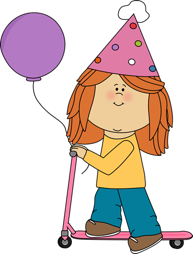 379x500 Little Girl Birthday Clipart