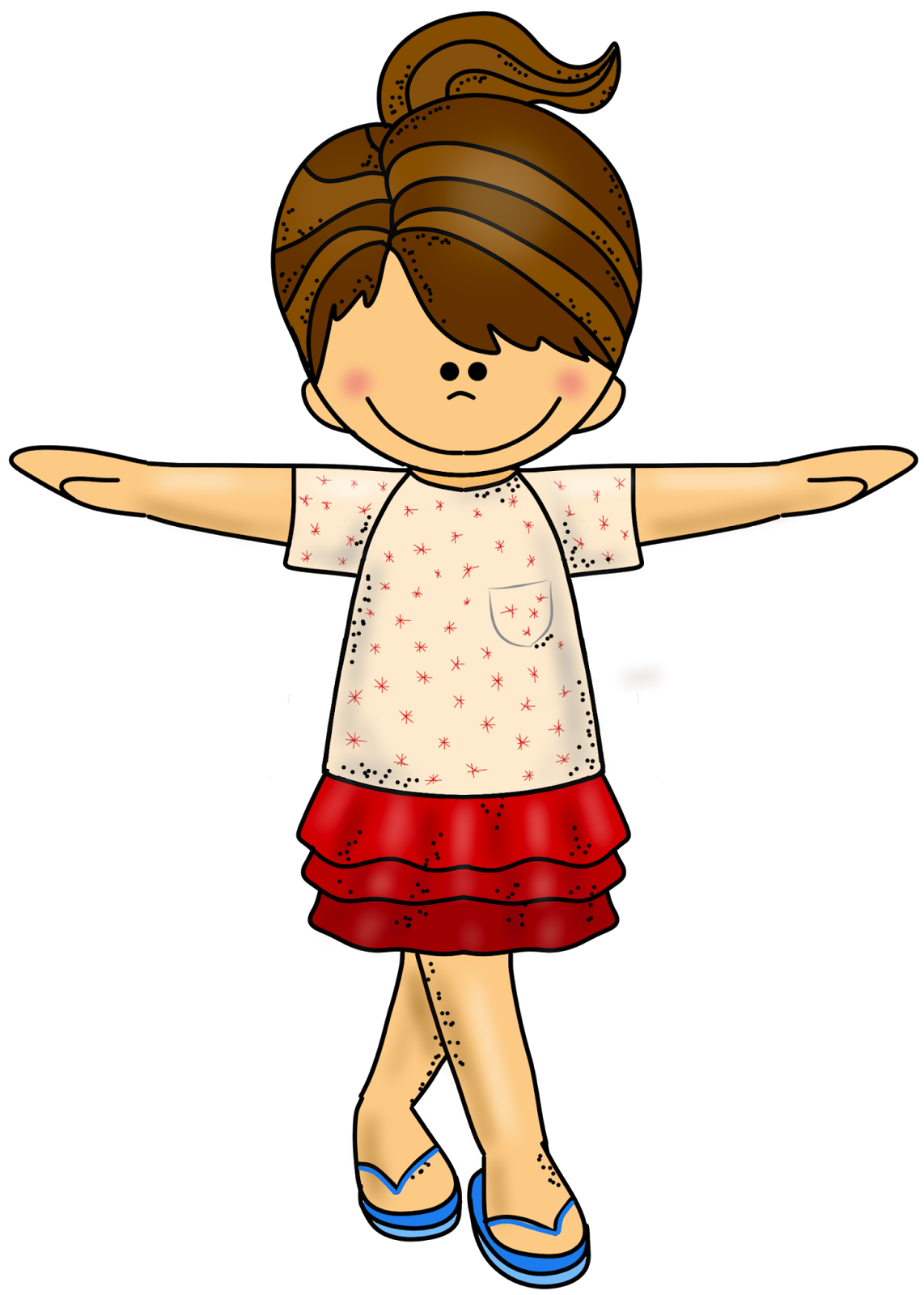 1142x1600 Smiling Sisters Clipart