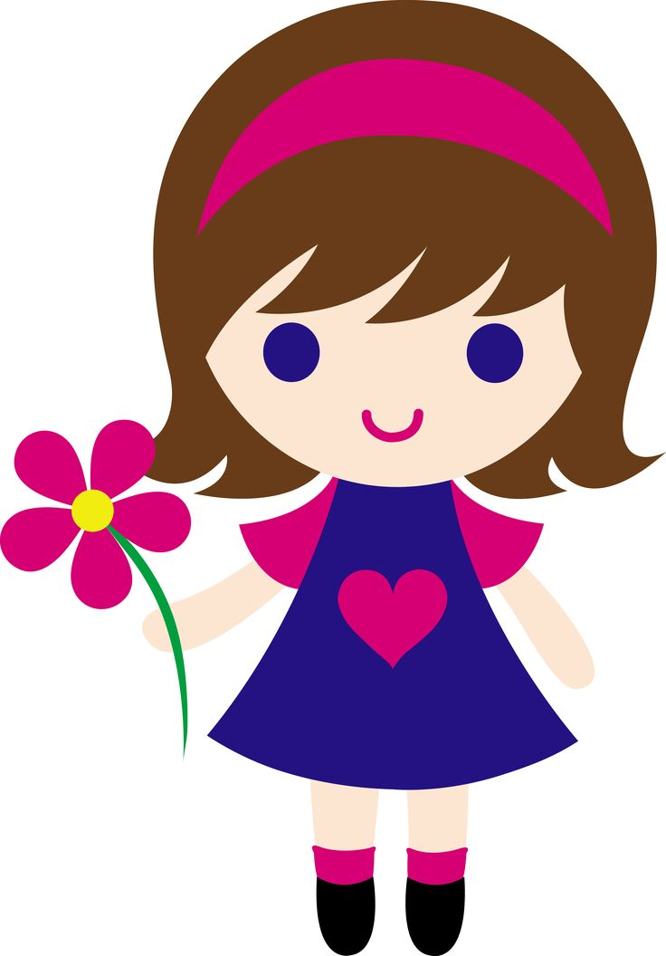 736x1056 A Little Girl Clipart
