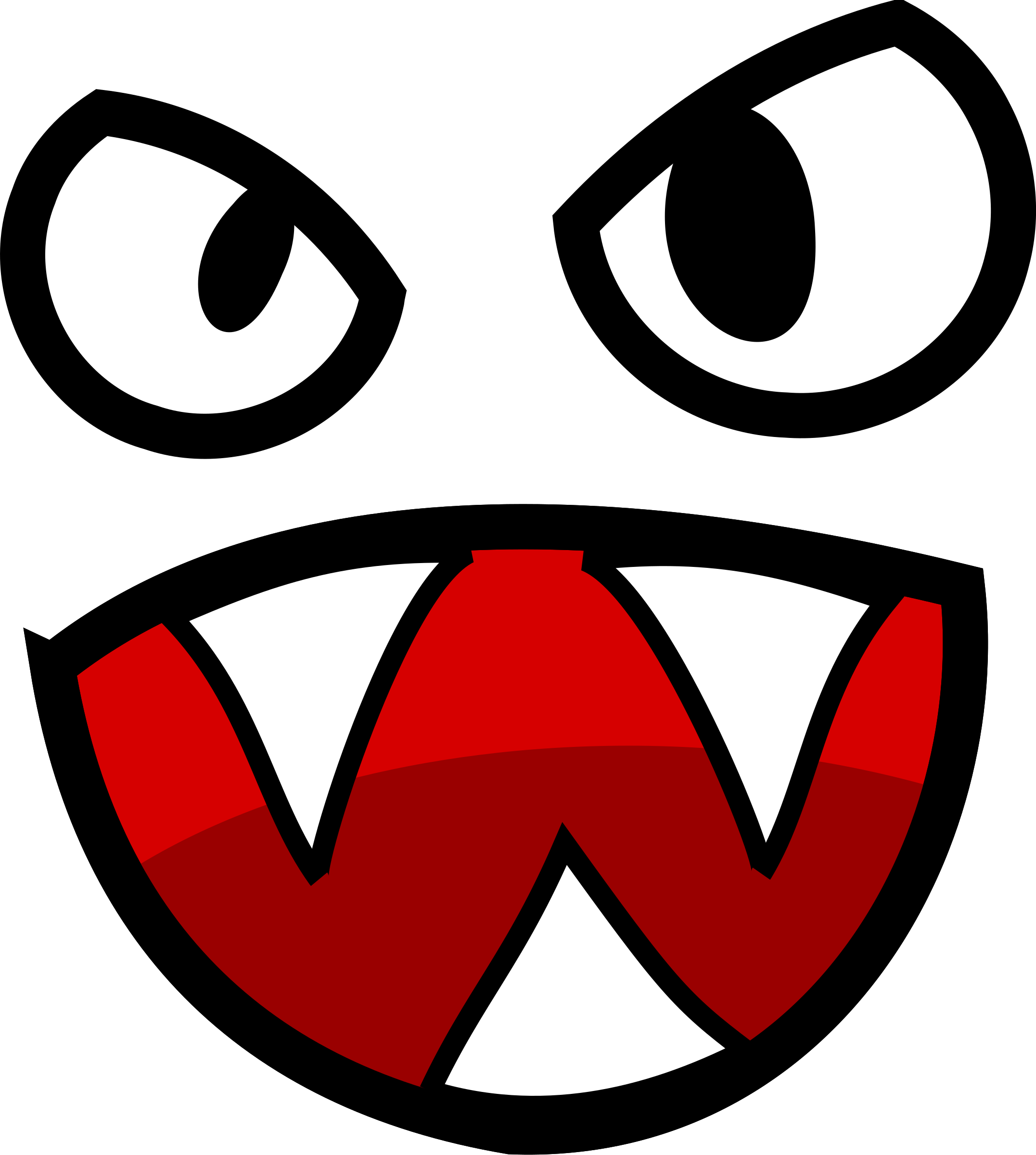 2153x2400 Teeth Clipart Monster Mouth