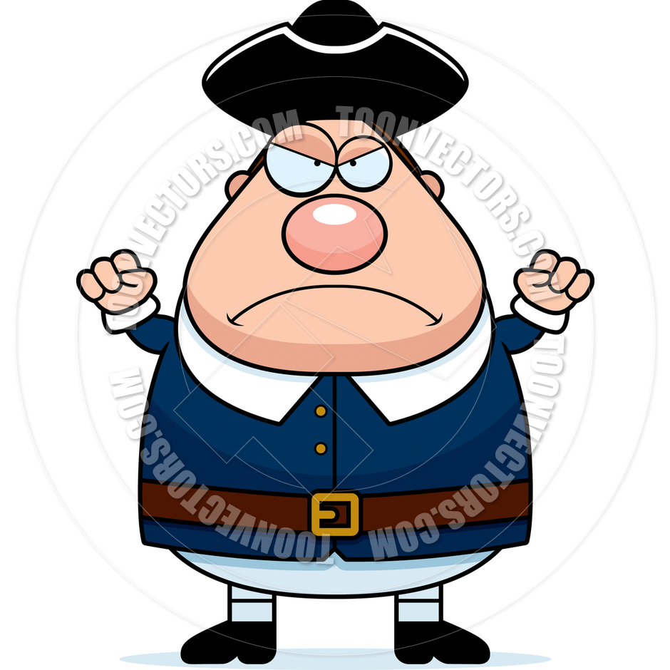 940x940 Cartoon Colonial Man Angry By Cory Thoman Toon Vectors Eps