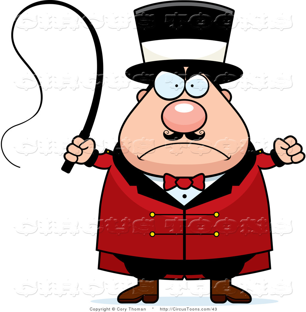 1024x1044 Circus Clipart Of An Angry Chubby Circus Ringmaster Man