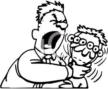 350x290 Royalty Free Clip Art Image Angry Man Choking A Kid