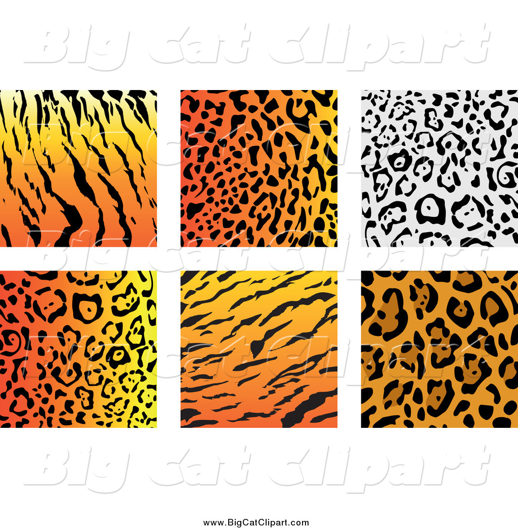 1024x1044 Big Cat Vector Clipart Of Jungle Animal Print Backgrounds By
