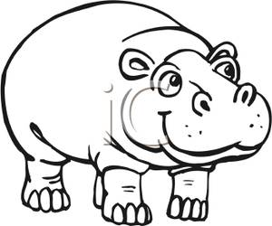 300x250 Clip Art Animals Black And White