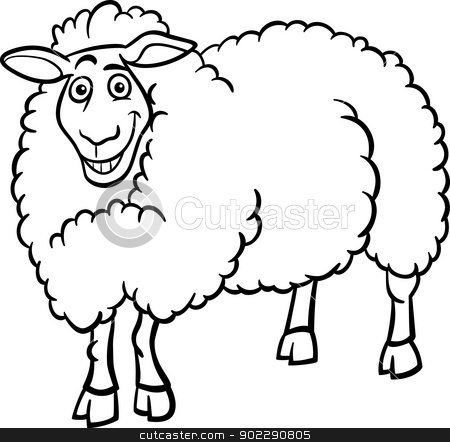 450x442 Farm Animal Black And White Clipart
