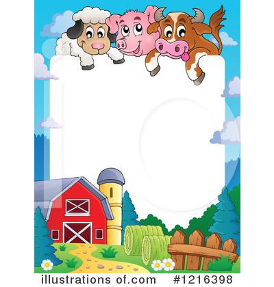 400x420 Farm Animals Clipart Farm Border