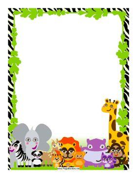 281x364 Free Rainforest Border Clip Art