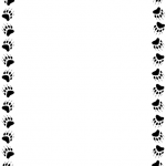 150x150 Paw Print Border Clipart Free Animal Borders Clip Art Page Borders