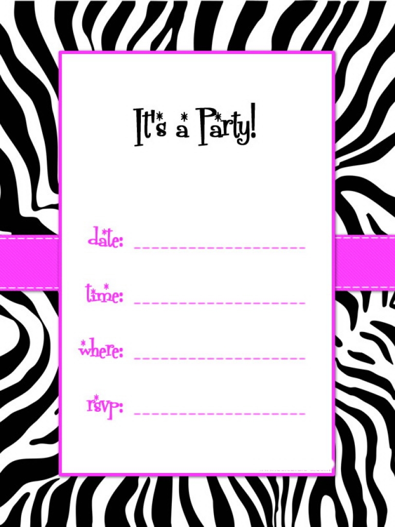 768x1024 Zebra Print Border Template Free Download Clip Art Free Clip