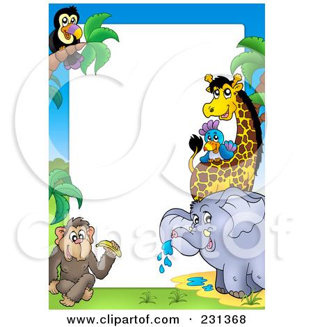 450x470 Zoo Animals Border Clipart