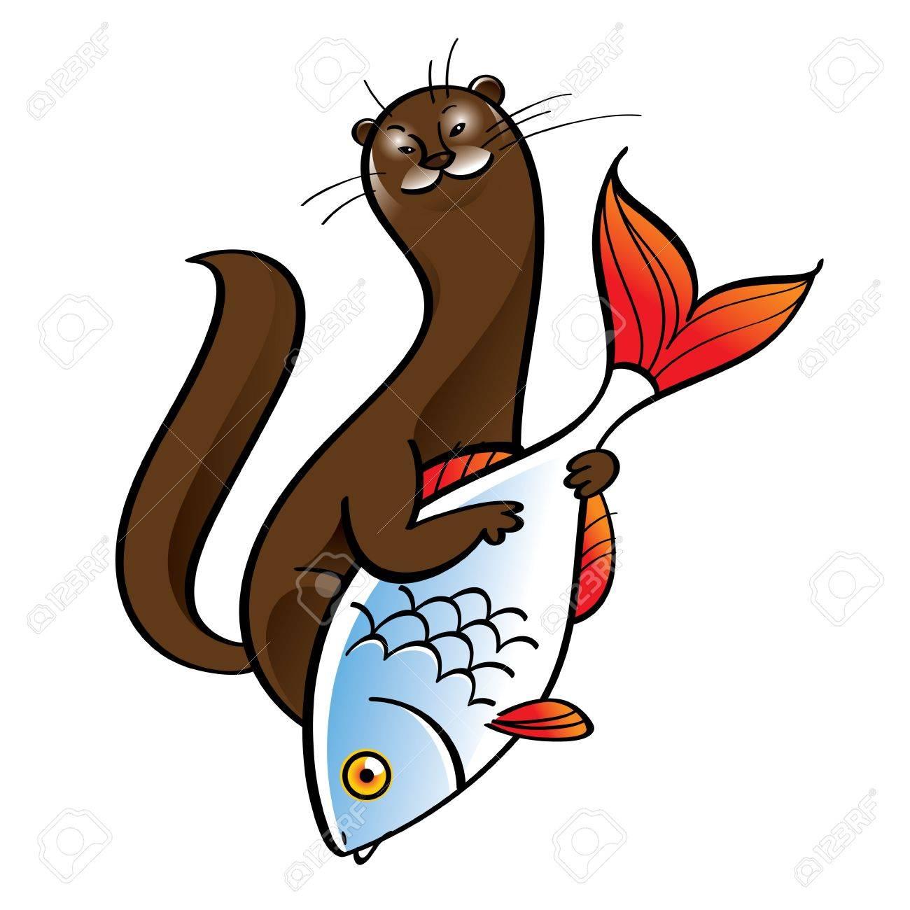 1300x1300 Polecat Ermine Fur Hunter Food Catch Fish Cell Animal Fauna