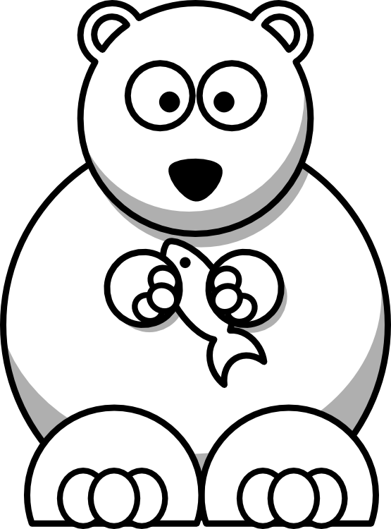 555x750 Clip Art Bear Black White Clipart Panda