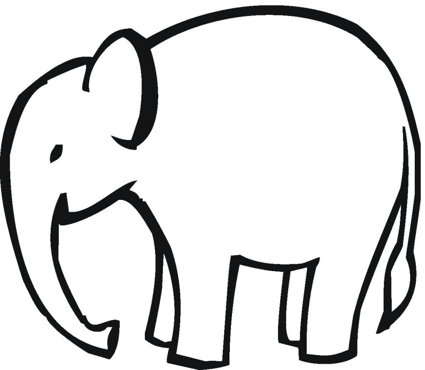 830x722 Elephant Clipart Black And White