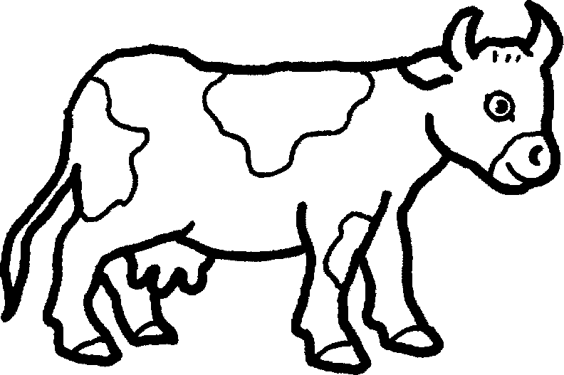 792x527 Farm Animal Black And White Clipart