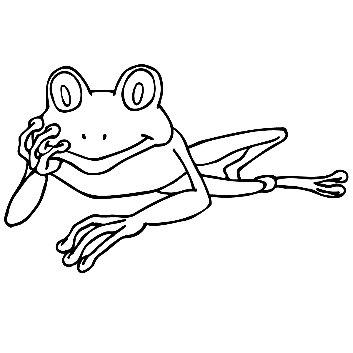 1200x1200 Frog Black And White Tree Frog Clip Art Black And White Free