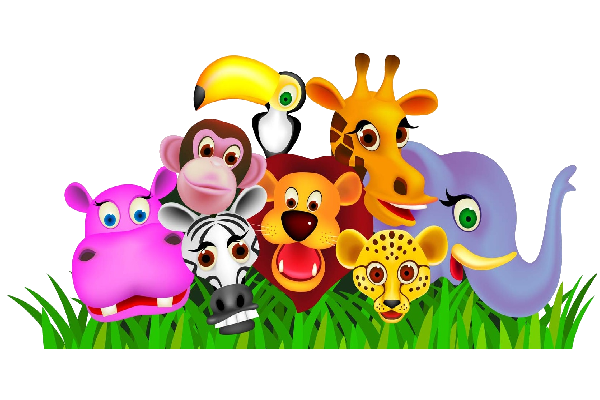 600x400 Baby Cartoon Animals Clipart Kid